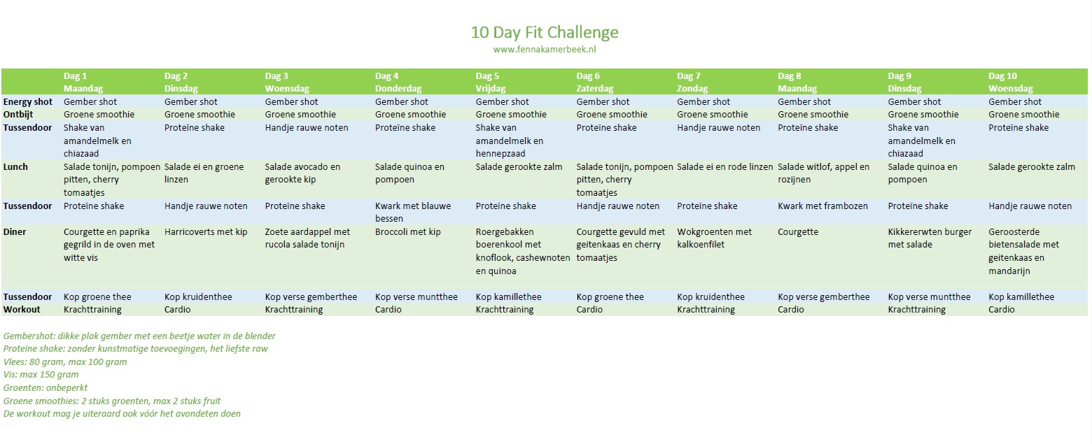 10 day fit challenge